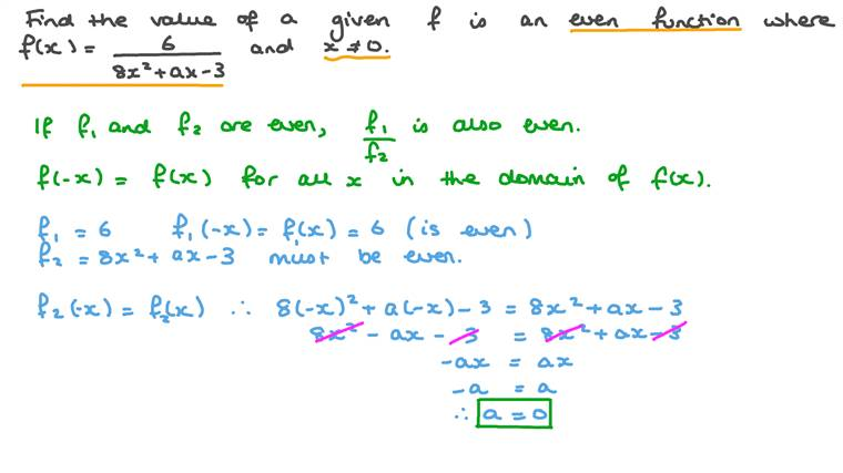 Finding an Unknown in a Rational Function given Its Parity