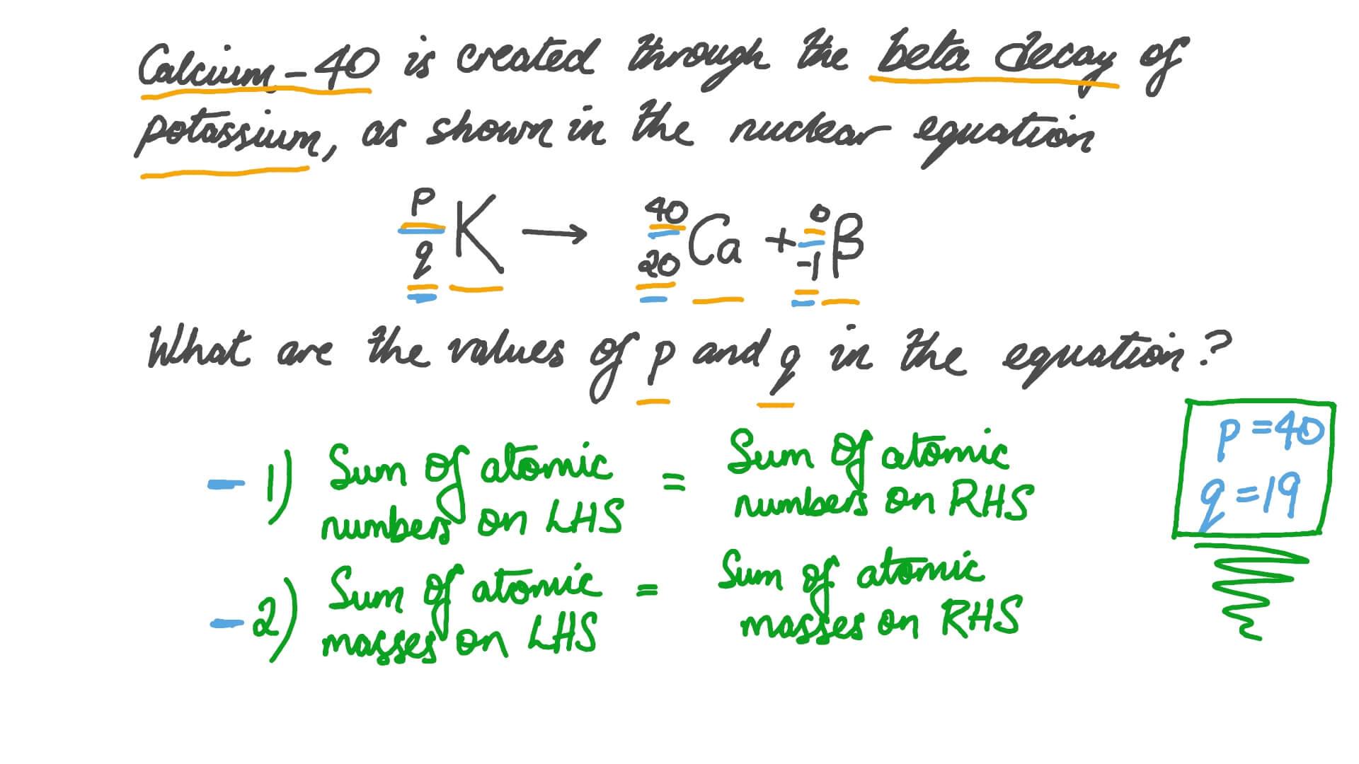 Question Video Solving Nuclear Equations Involving Beta Decay Nagwa [ 756 x 1344 Pixel ]