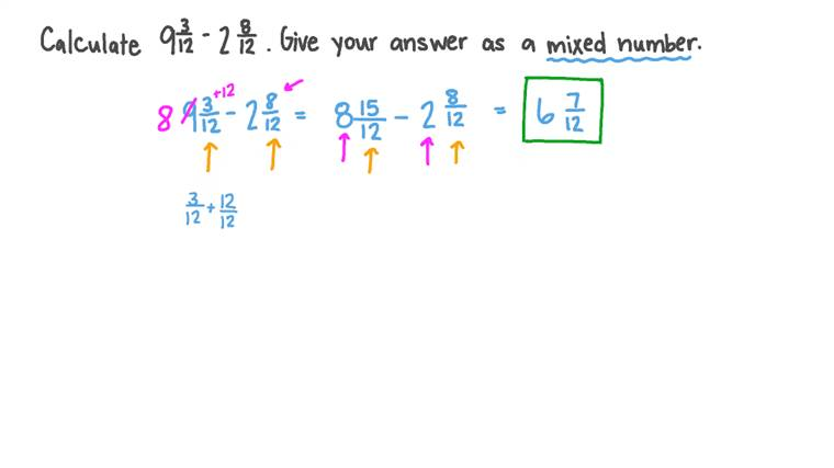 Subtraction of Rational Numbers into Simplest Form