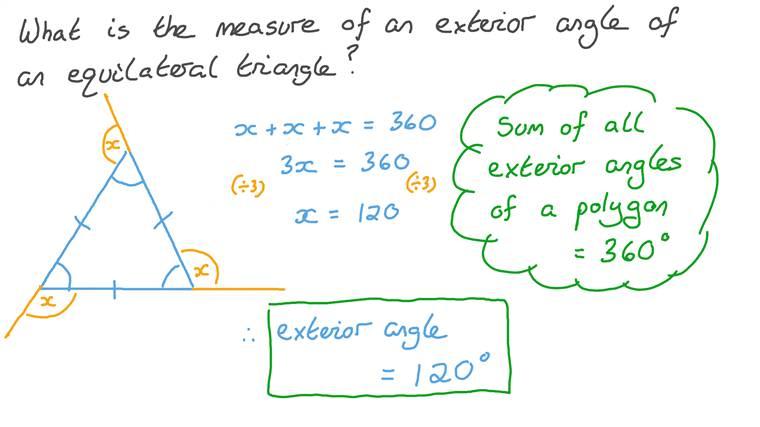 Calculations Involving Exterior Angles