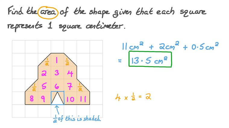 Finding the Area of a Shape by Counting the Squares