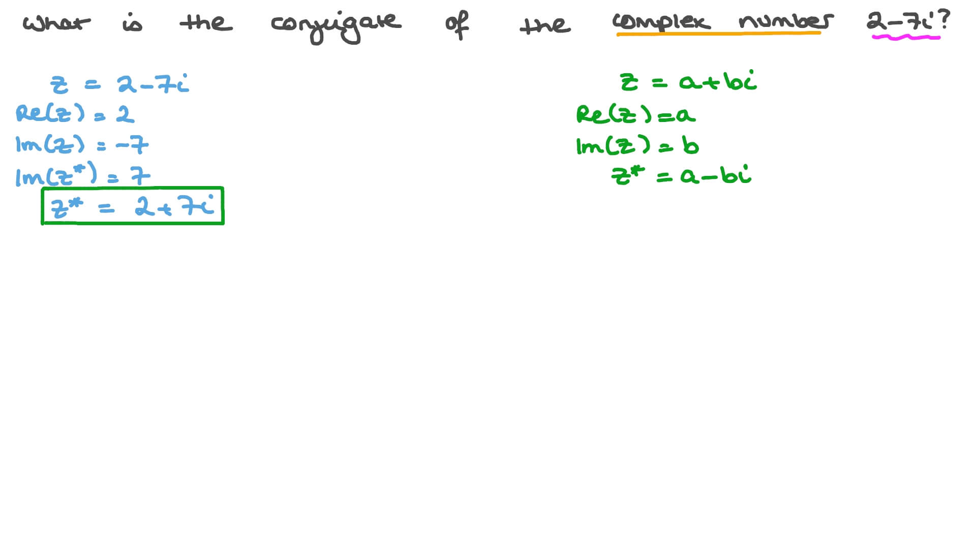 Finding the Conjugate of a Complex Number in Algebraic Form Pertaining To Multiplying Complex Numbers Worksheet