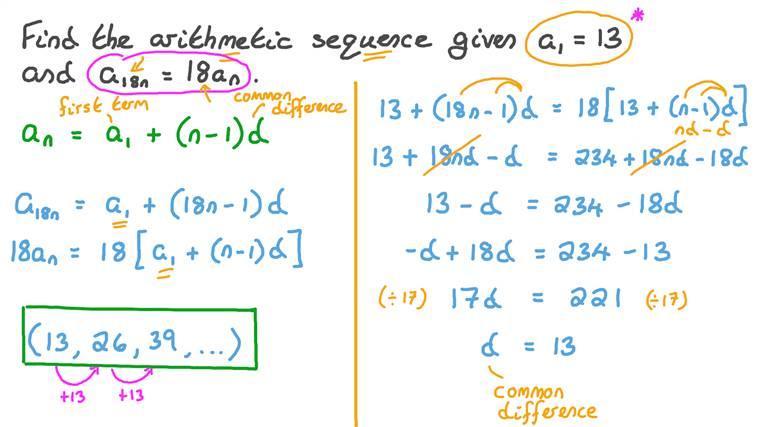 Définir une suite arithmétique à partir d'informations sur ses termes