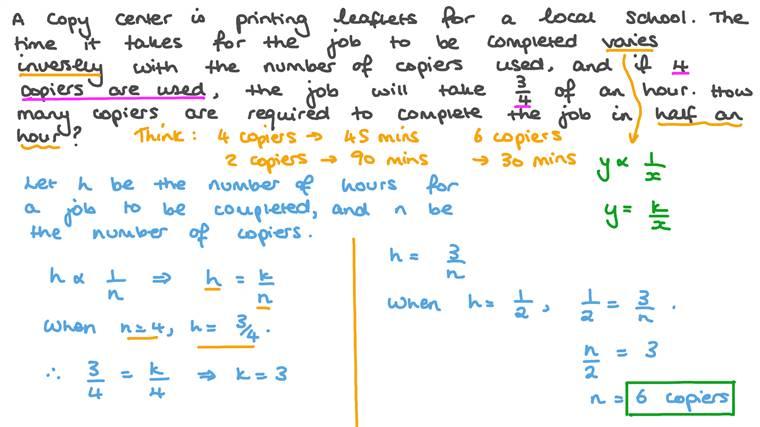 Solving Inverse Variation