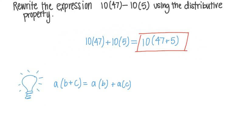 Rewriting Expressions Using the Distributive Property