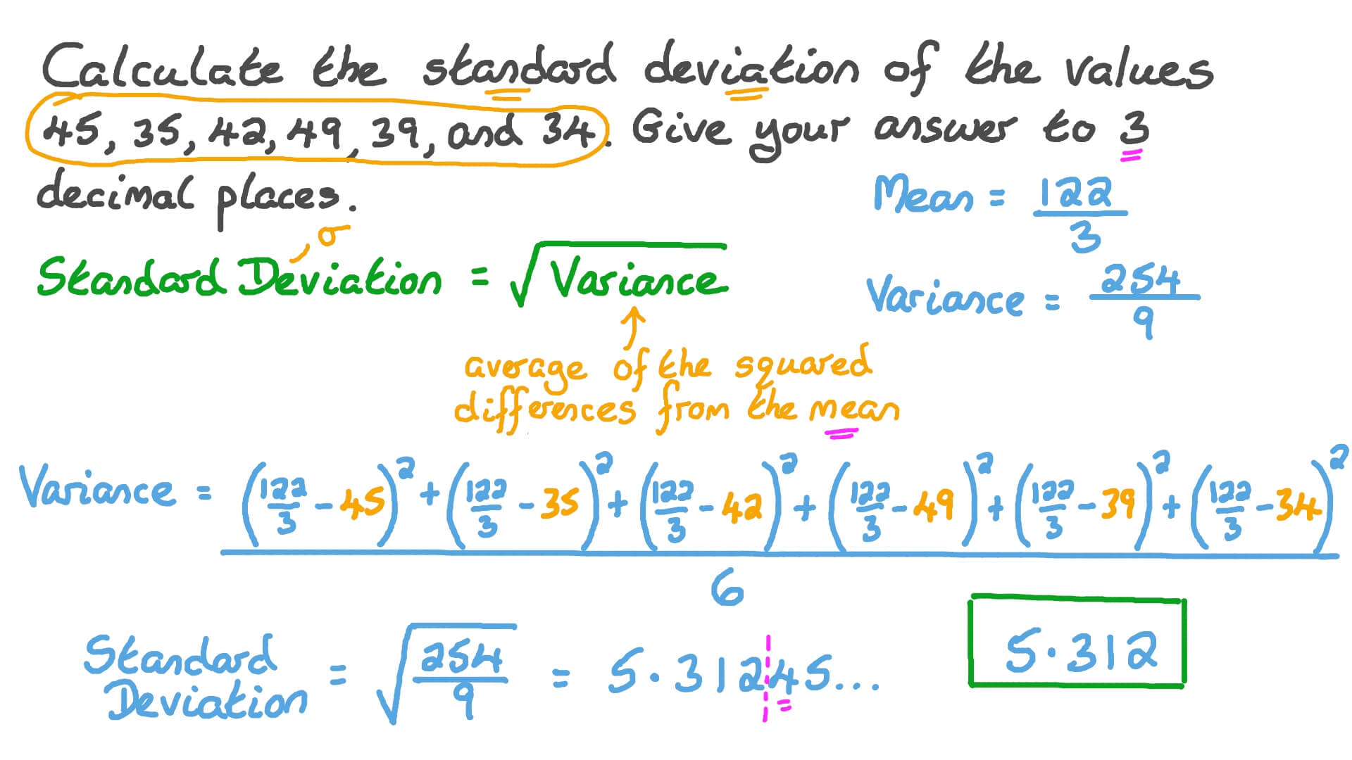 The calculate standard deviation how to arrow right