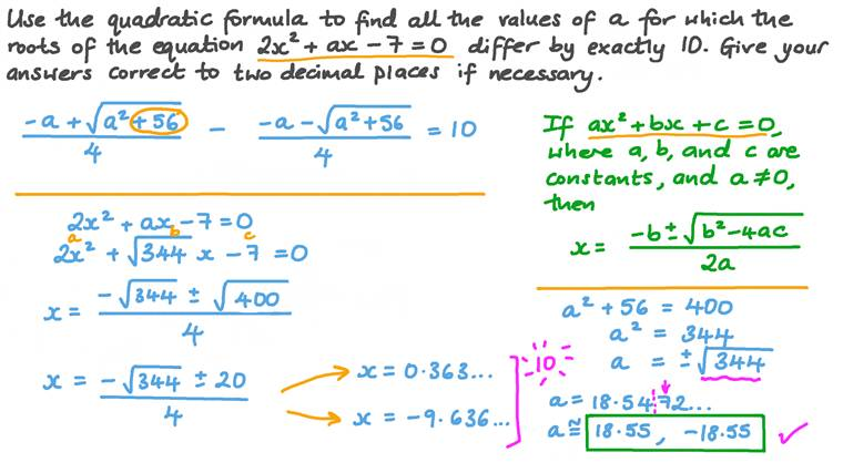 Solving Quadratic Equations by Quadratic Formula