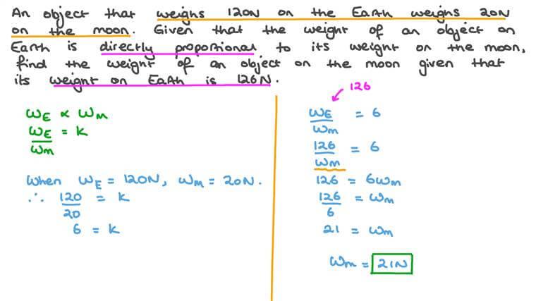Résoudre des équations de proportion impliquant une variation directe dans un contexte réel