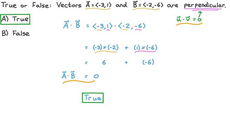 Determining the Orthogonality of Two Given Vectors