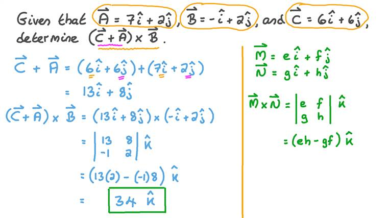 Adding Two Vectors Then Finding the Cross Product of Their Sum by a Third Vector