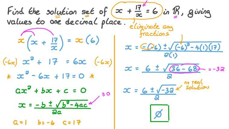 Résoudre les équations du second degré en utilisant la formule du second degré