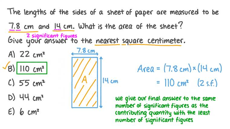 Calculating the Area of an Object to an Appropriate Number of Significant Figures