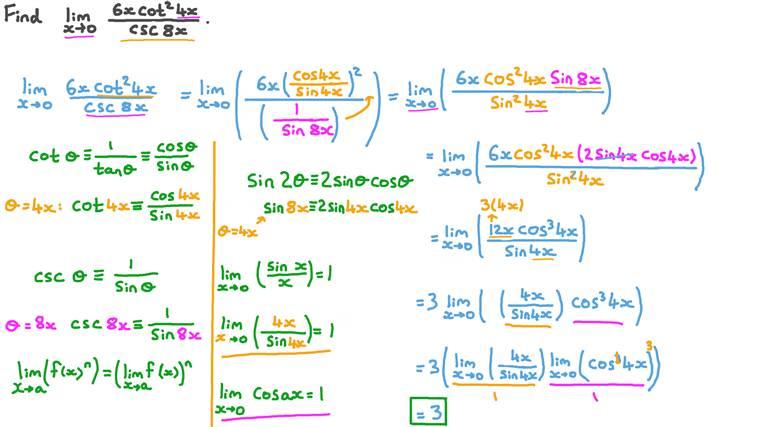 Déterminer des limites avec des fonctions trigonométriques