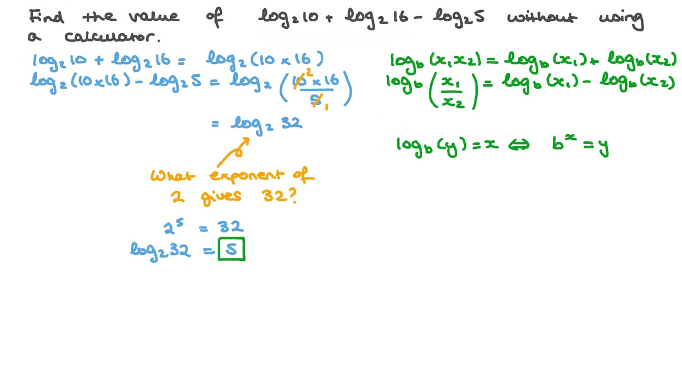 Evaluating Logarithmic Expressions - onlinemath4all