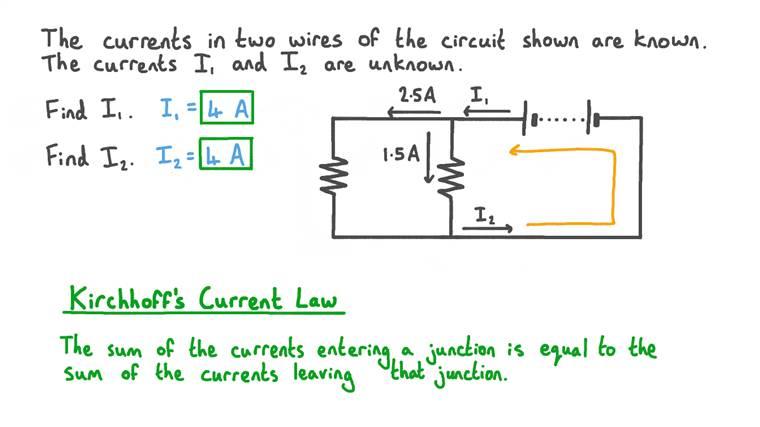 Calcul des courants inconnus dans un circuit en parallèle