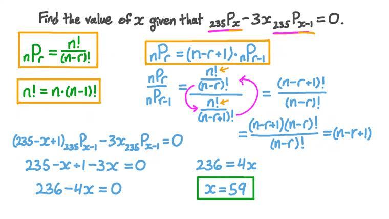 Évaluation des arrangements pour déterminer la valeur d'une inconnue
