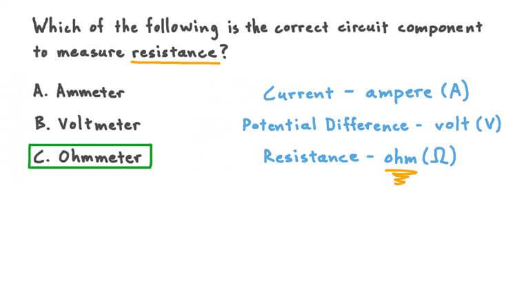 Recalling Which Electrical Component Measures Resistance