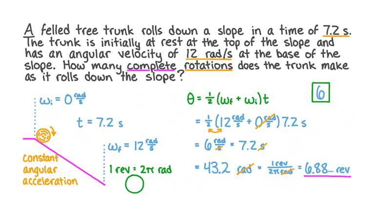 Déterminer le nombre de rotations d'un objet roulant