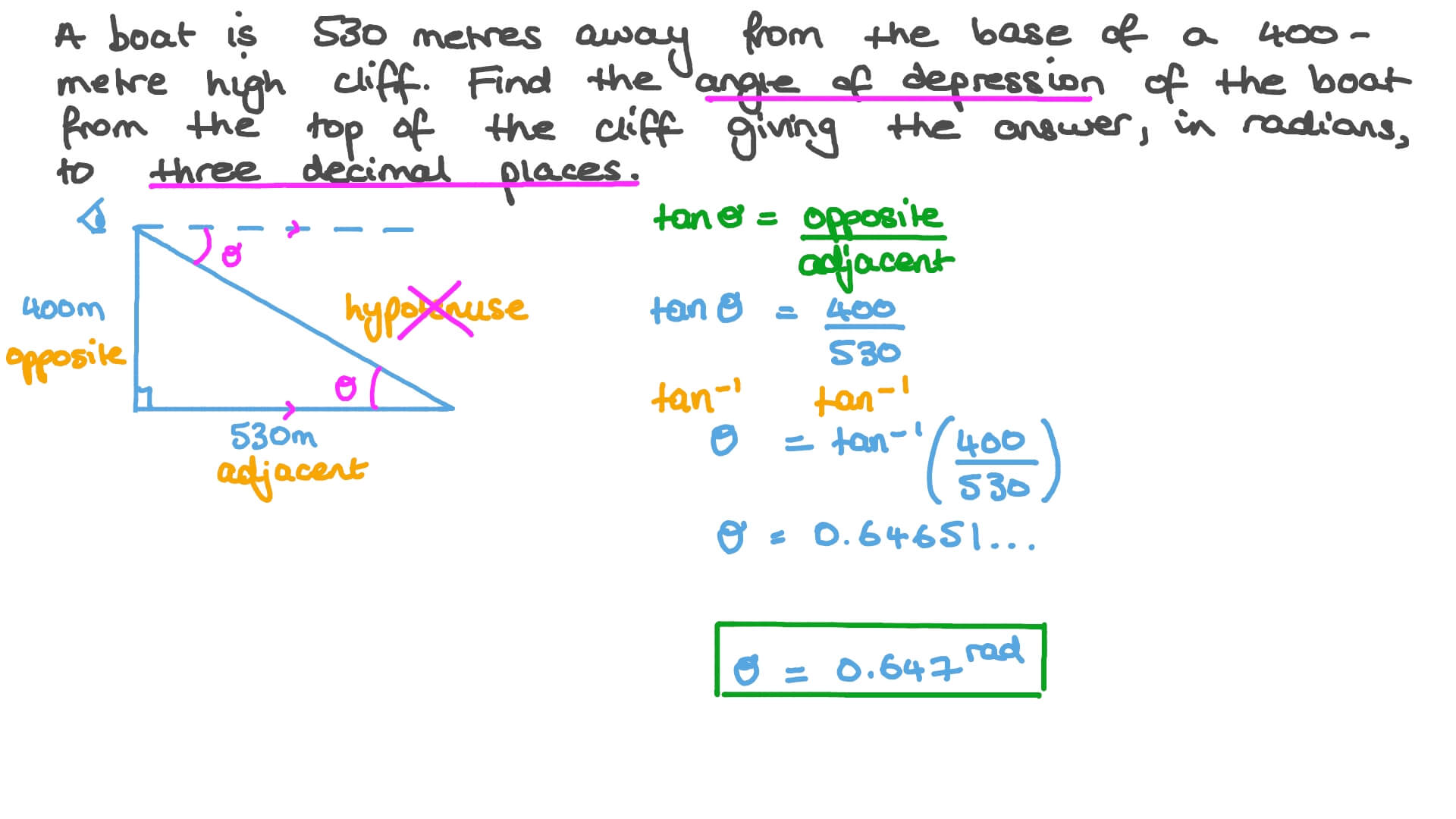 Video: Using Right Triangle Trigonometry to Find Angles of ...