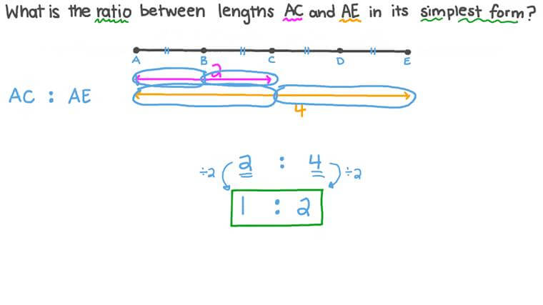 Finding the Ratio between Two Line Segments in the Simplest Form