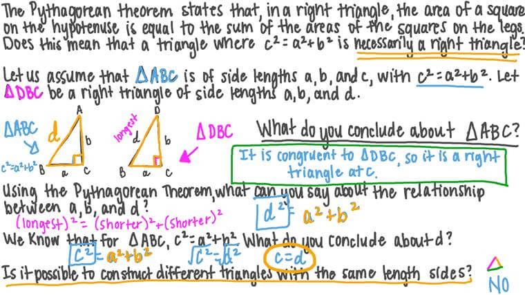 Applications of the Pythagorean Theorem in Congruent Triangle