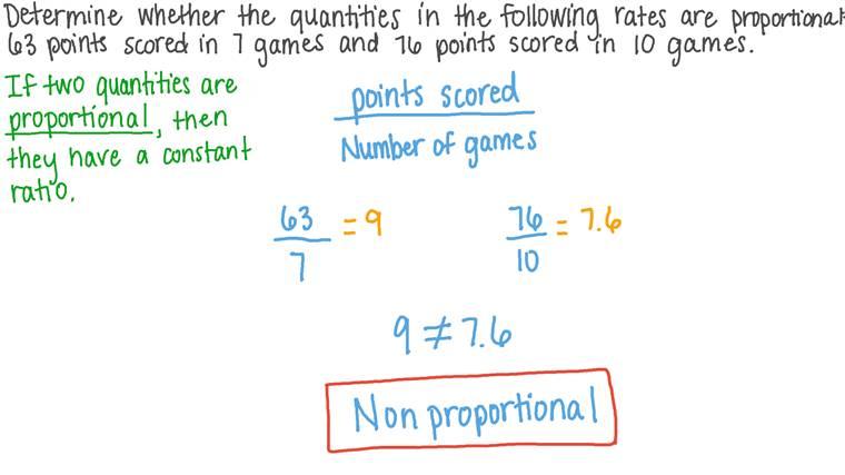 Déterminer si deux quantités sont proportionnelles