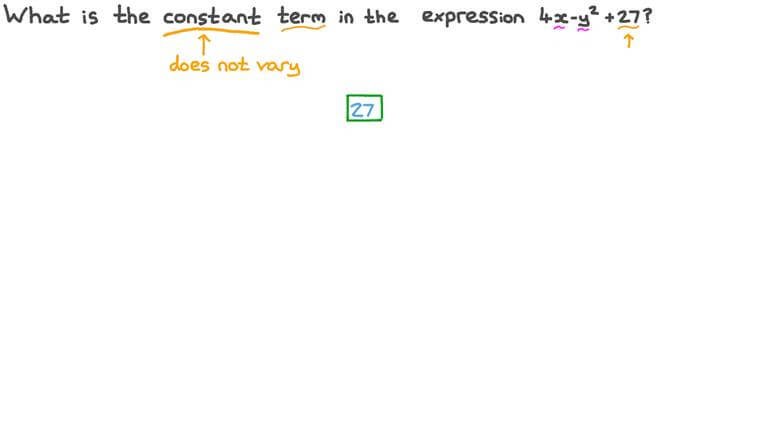 Determining the Value of the Constant Term of an Algebraic Expression
