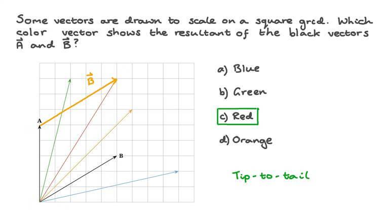Identifier un vecteur résultant à l'aide d'un diagramme en échelle