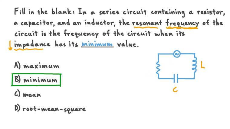 Résonance dans les circuits à courant alternatif