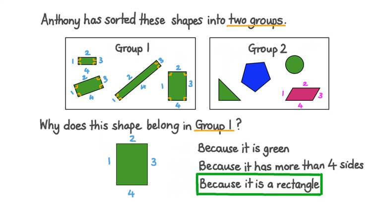 Sorting Shapes by Defining Attributes