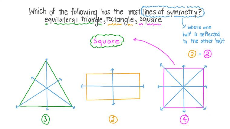 Identifying the Figure That Has the Most Lines of Symmetry