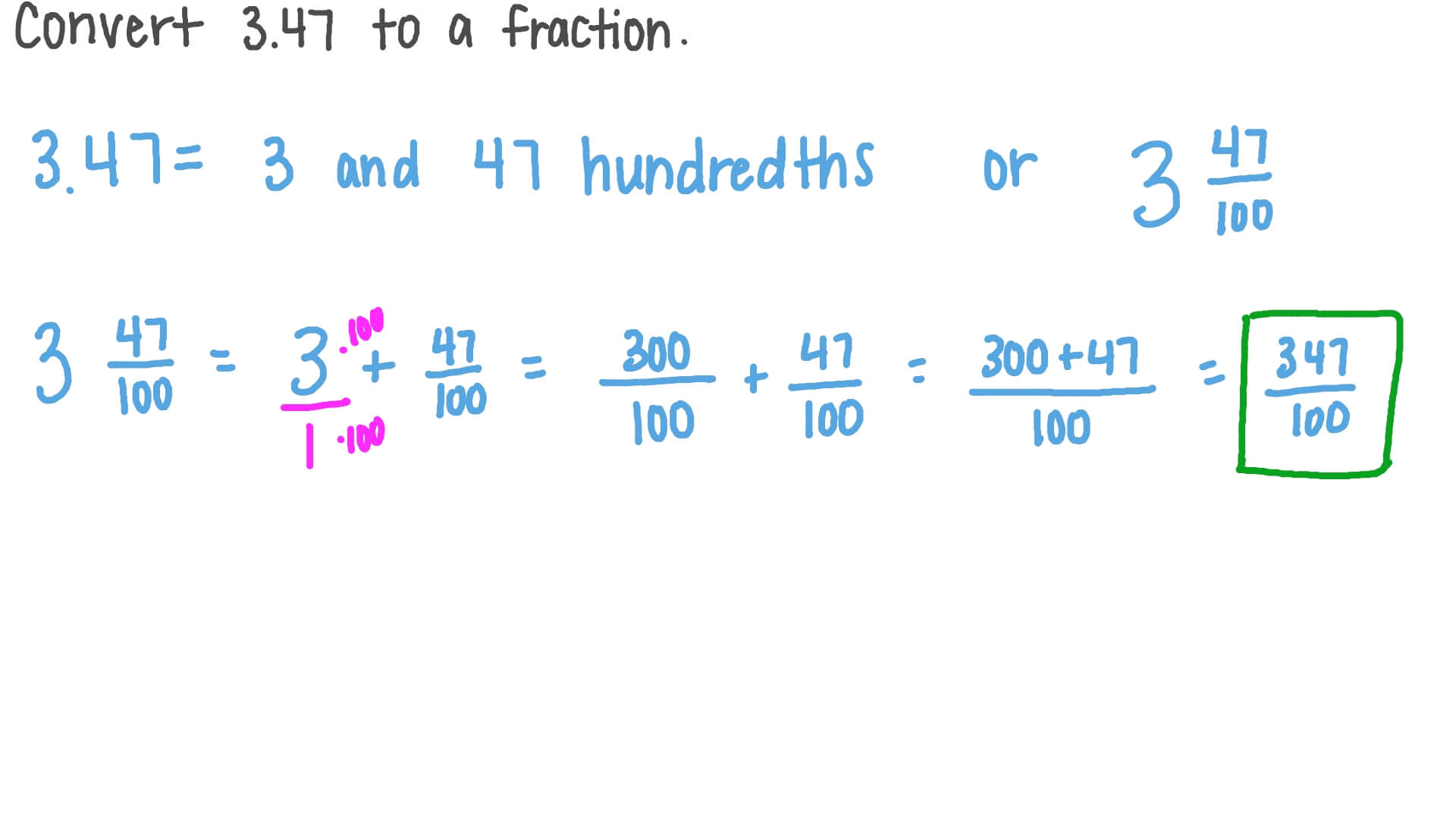Video Converting Decimals To Fractions
