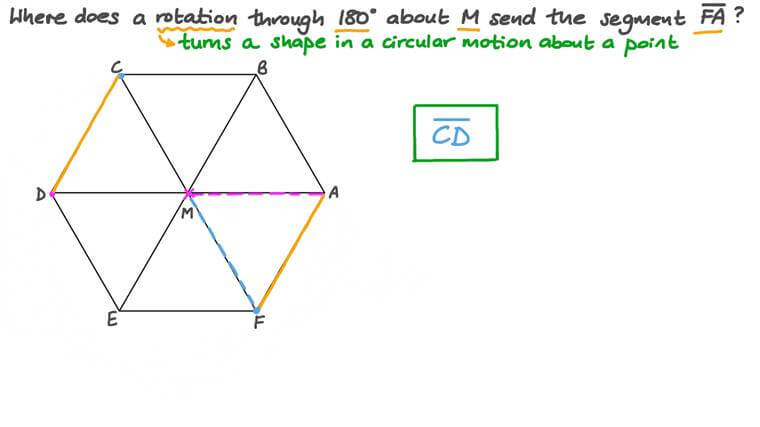 Finding the Image of a Line Segment by a 180-Degree Rotation about a Point