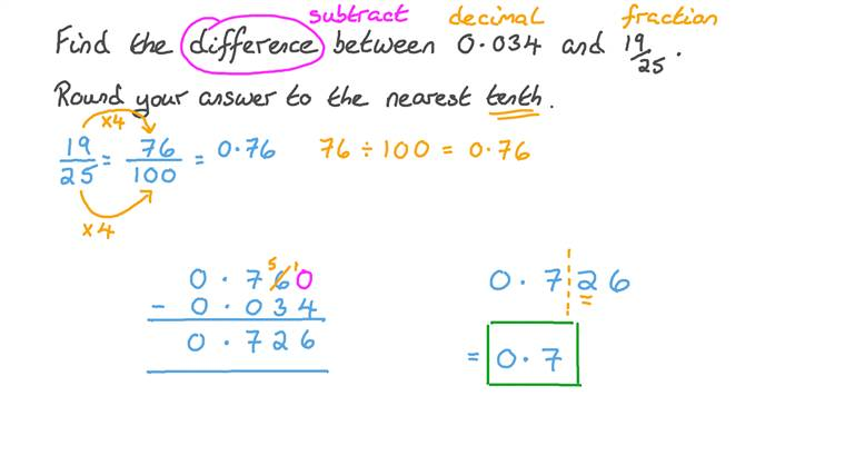 Subtracting Decimal Numbers From Fractions Then Rounding the Result