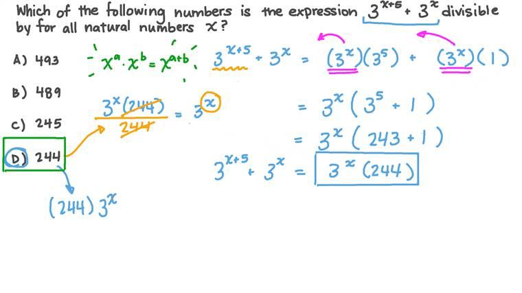 Factorizing Expressions Involving Exponents