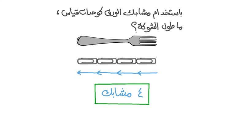 عد العناصر المستخدمة لقياس عنصر آخر