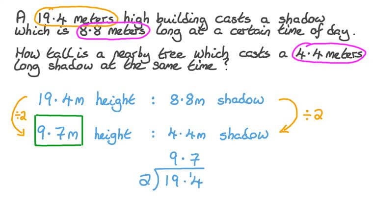 Writing and Solving Proportion Equations in Word Problems