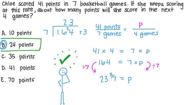 Solving Word Problems Involving Constant Rate