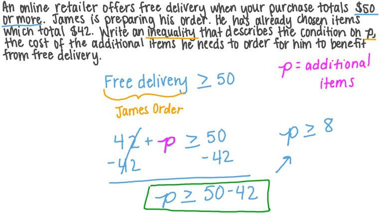 Using Variables to Represent Numbers and Write Inequalities When Solving a Real-World Problem