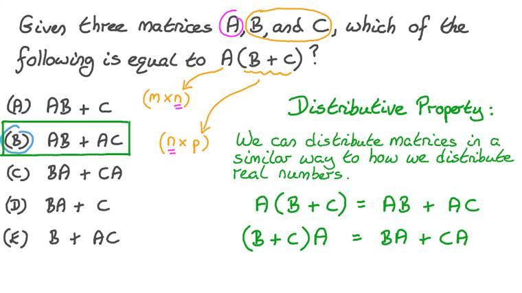 Distributing Matrix Multiplication over Addition