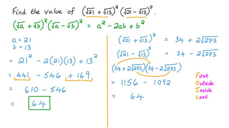 Simplifying Numerical Expressions Using the Properties of Conjugates of Irrational Numbers