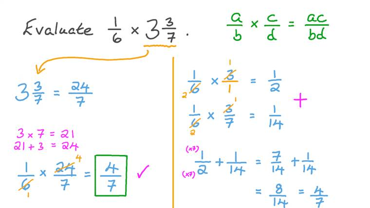 Multiplying a Mixed Number by a Fraction with Unlike Denominator