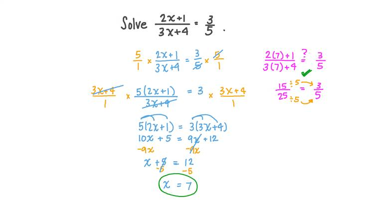 Solving Equations Involving Rational Functions