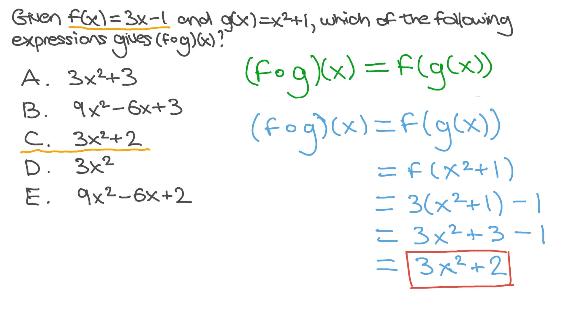 Finding the Composite of Two Functions Pertaining To Composite Function Worksheet Answers