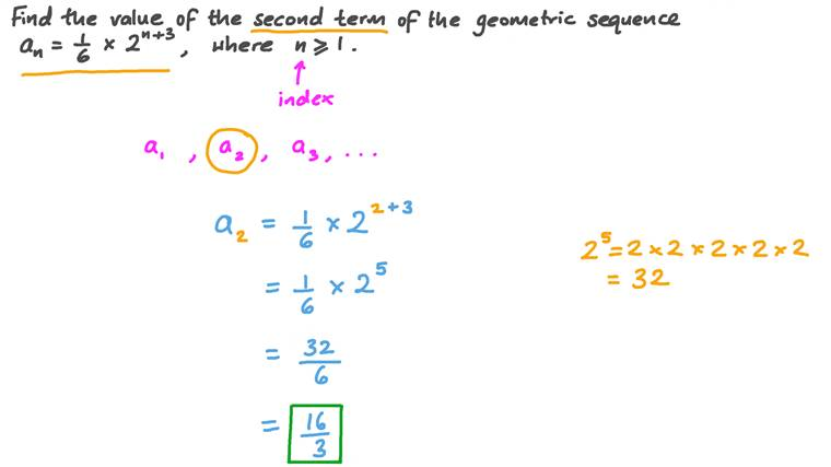 Finding the Value of a Certain Term of a Geometric Sequence given Its General Term