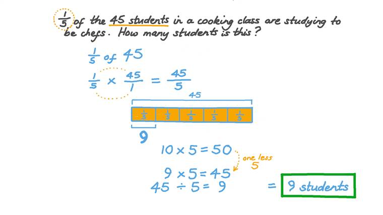 Calculating a Fraction of an Integer Number in Word Problems