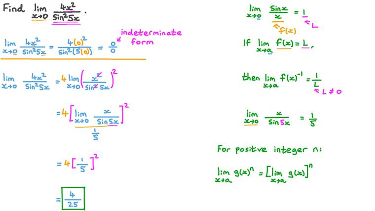 Finding Limits Involving Trigonometric Functions