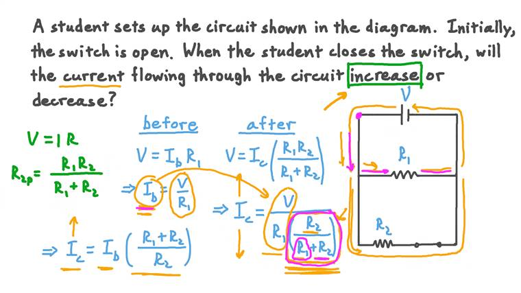 Identifying How Current Changes Depending on the Number of Parallel Paths in a Circuit