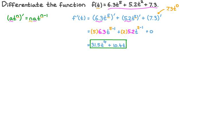 Differentiating Polynomial Functions with Decimal Coefficients