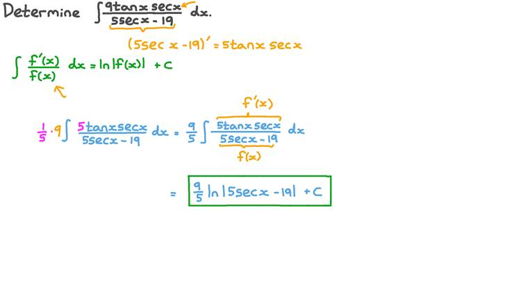 Finding the Integration of a Function Containing Reciprocal Trigonometric Functions Using Integration by Substitution